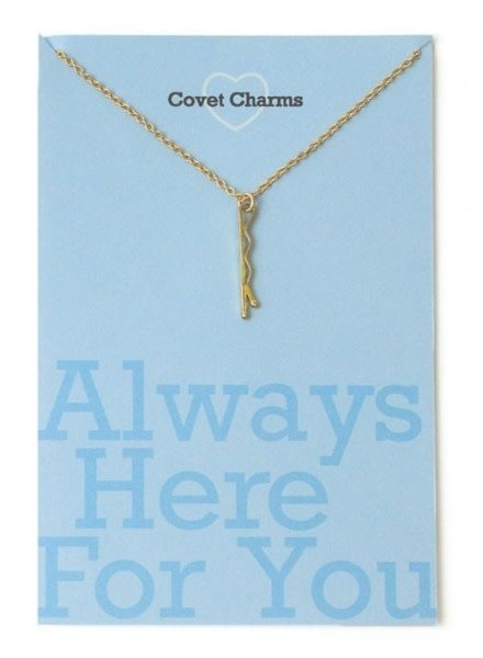 Covet Dance Always Here For You Bobby Pin Necklace (Gold)