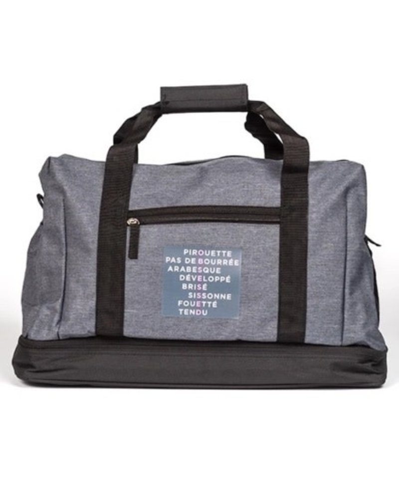 Covet Dance Obsessed Much? Duffle Bag (Grey)
