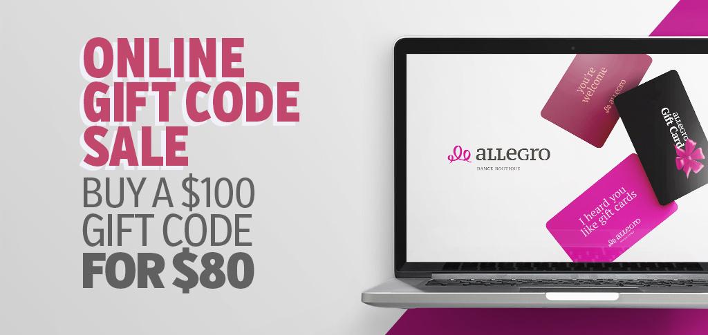 Online Gift Code Sale