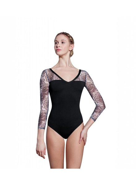 Lulli Taylor Long Sleeve Mesh Leotard