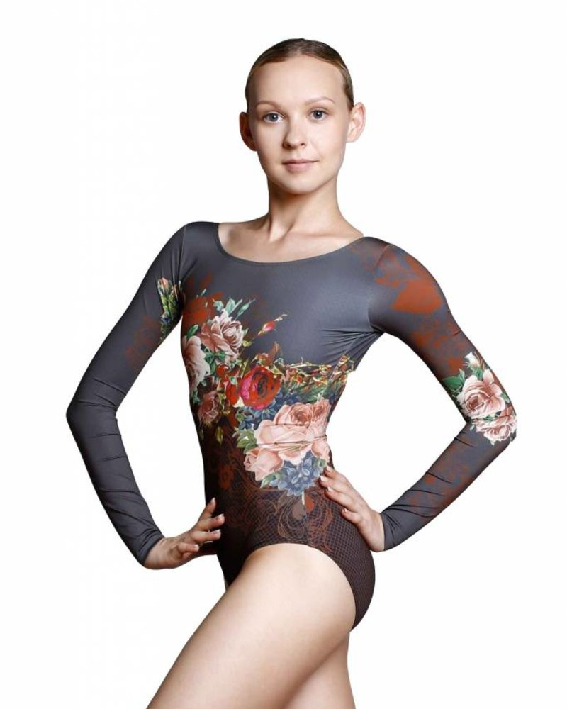 Ballet Rosa Laureline Long Sleeve V-Back Leotard