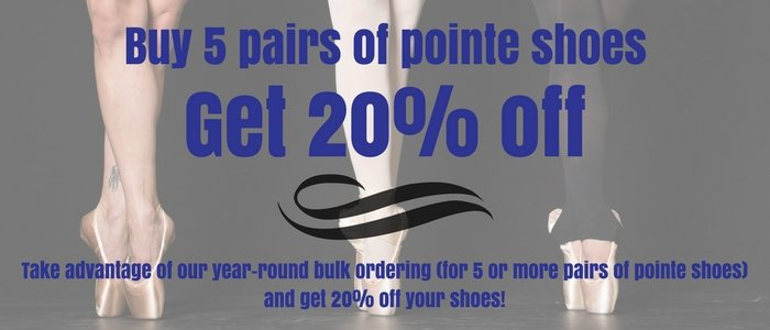 20% Off 5 Pairs Of Pointe Shoes