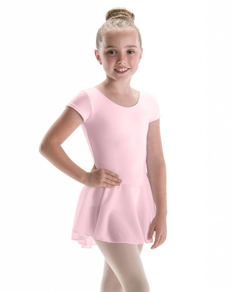 Motionwear Bow Back Cap Sleeve Leo w/ Attached Skirt