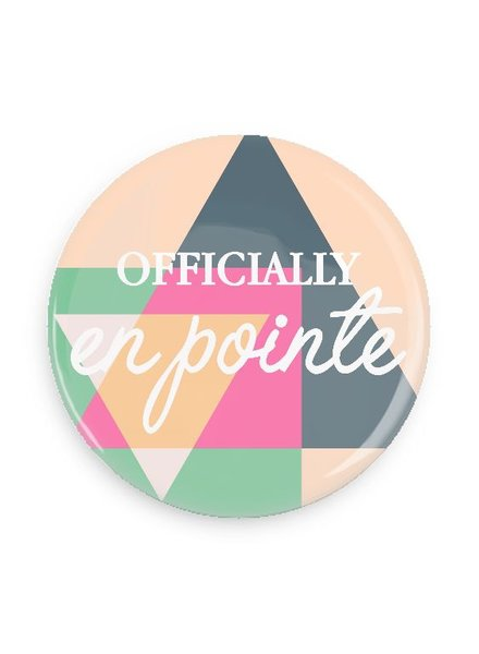 B Plus Printworks Officially En Pointe Pocket Mirror (Multicolor Triangle)