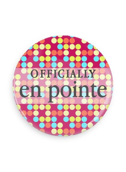 B Plus Printworks Officially En Pointe Pocket Mirror (Polka Dots)
