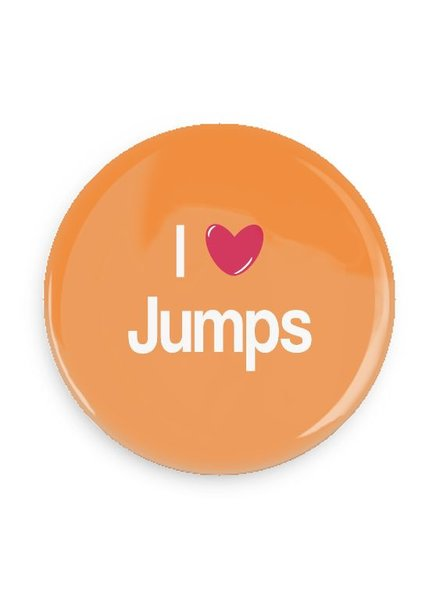 B Plus Printworks I Heart Jumps Pocket Mirror