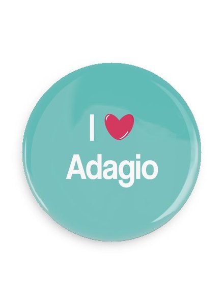 B Plus Printworks I Heart Adagio Pocket Mirror