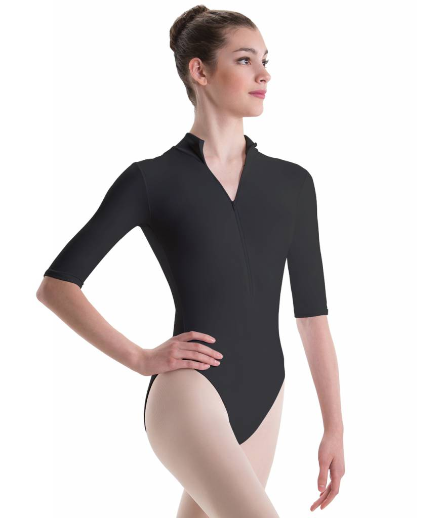 b6051c0dc Mock Turtleneck 3 4 Sleeve Leotard - Allegro Dance Boutique