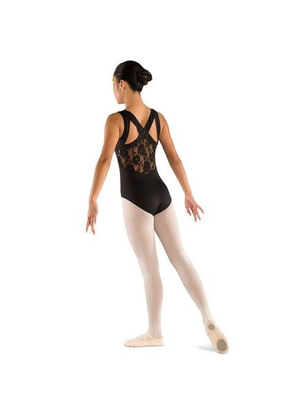 Danshūz Kid's Wide Strap Lace Back Leotard