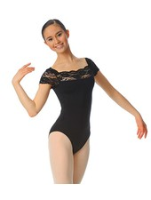 Gaynor Minden Adult Lace Cap Sleeve Leotard by Gaynor