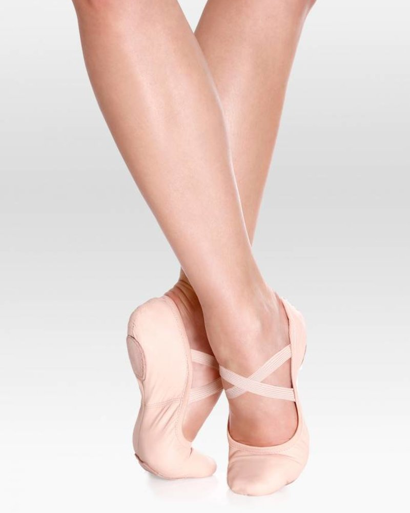 Só Dança Brit Youth Leather Split-Sole Ballet Shoe