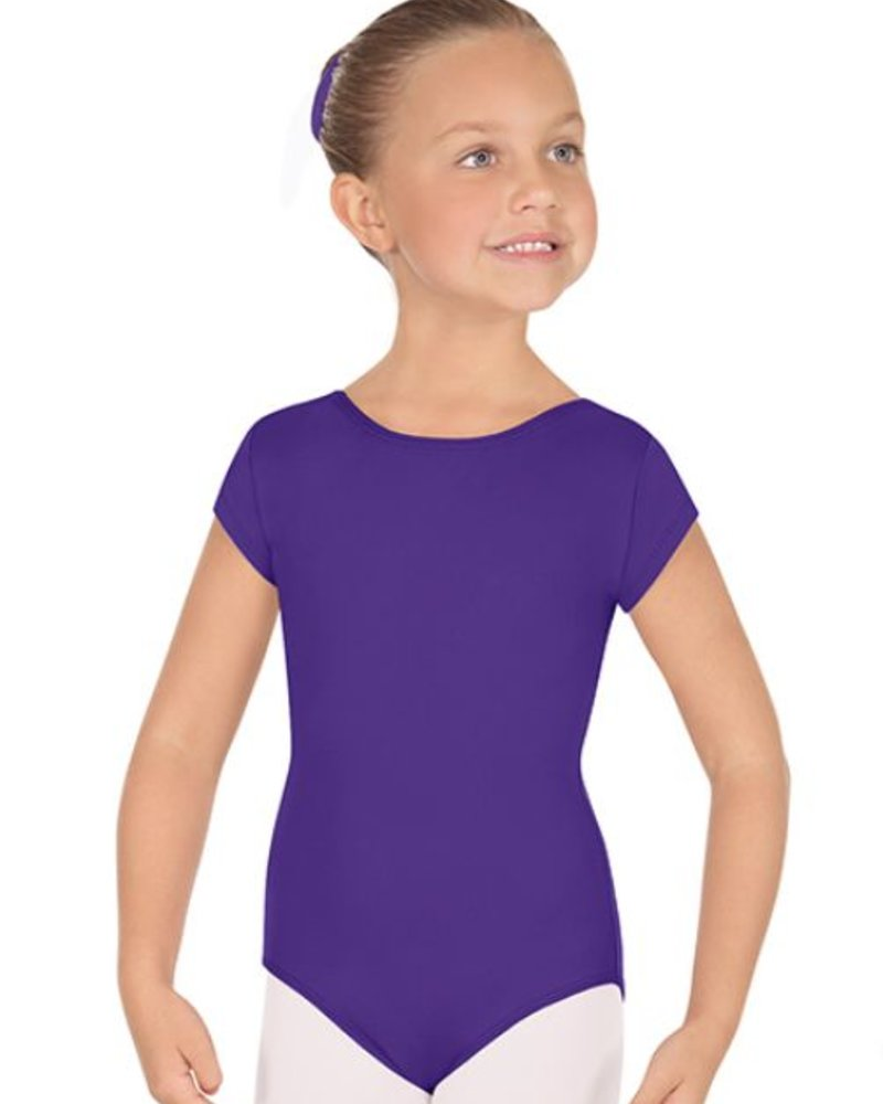 Eurotard Girls Microfiber Short Sleeve Leotard