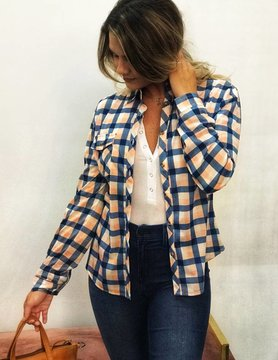 Stacatto Plaid Knit Top