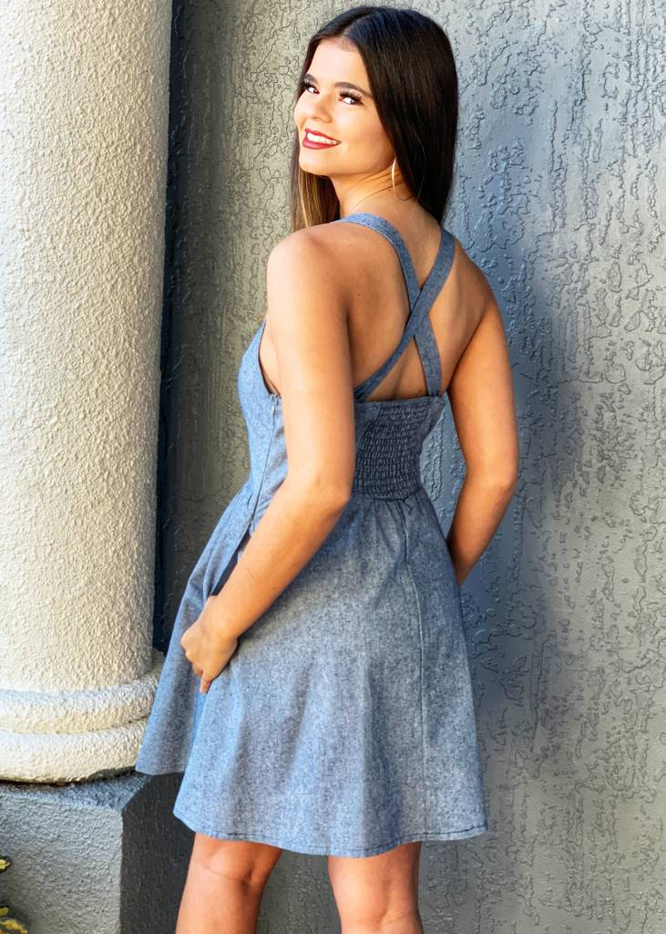 &Merci Faded Denim Bethany Dress