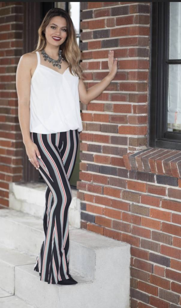 Gasparilla Striped Bell Bottoms