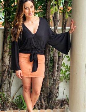 Sadie Sage Sunset Denim mini skirt