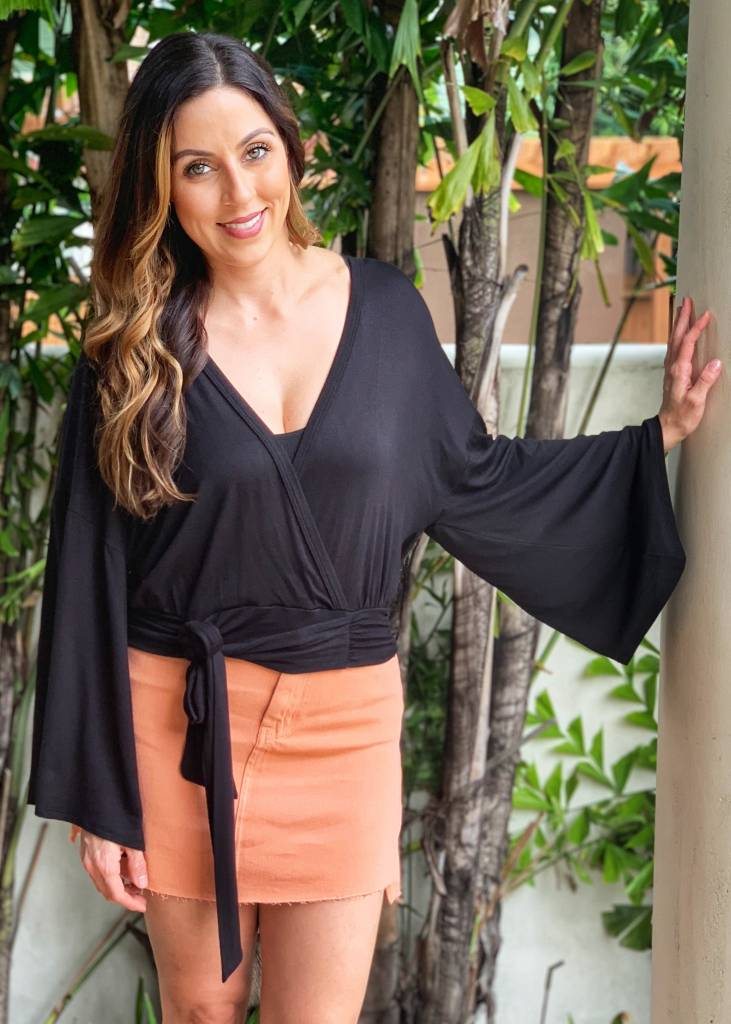 Sadie Sage Top Wing Black Top