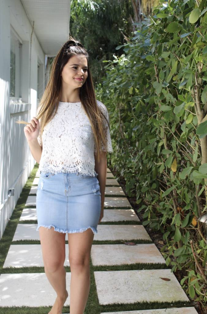 Space 46 White Lace Top