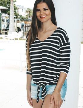 Papermoon Kaylee Hi-Low Stripe Top