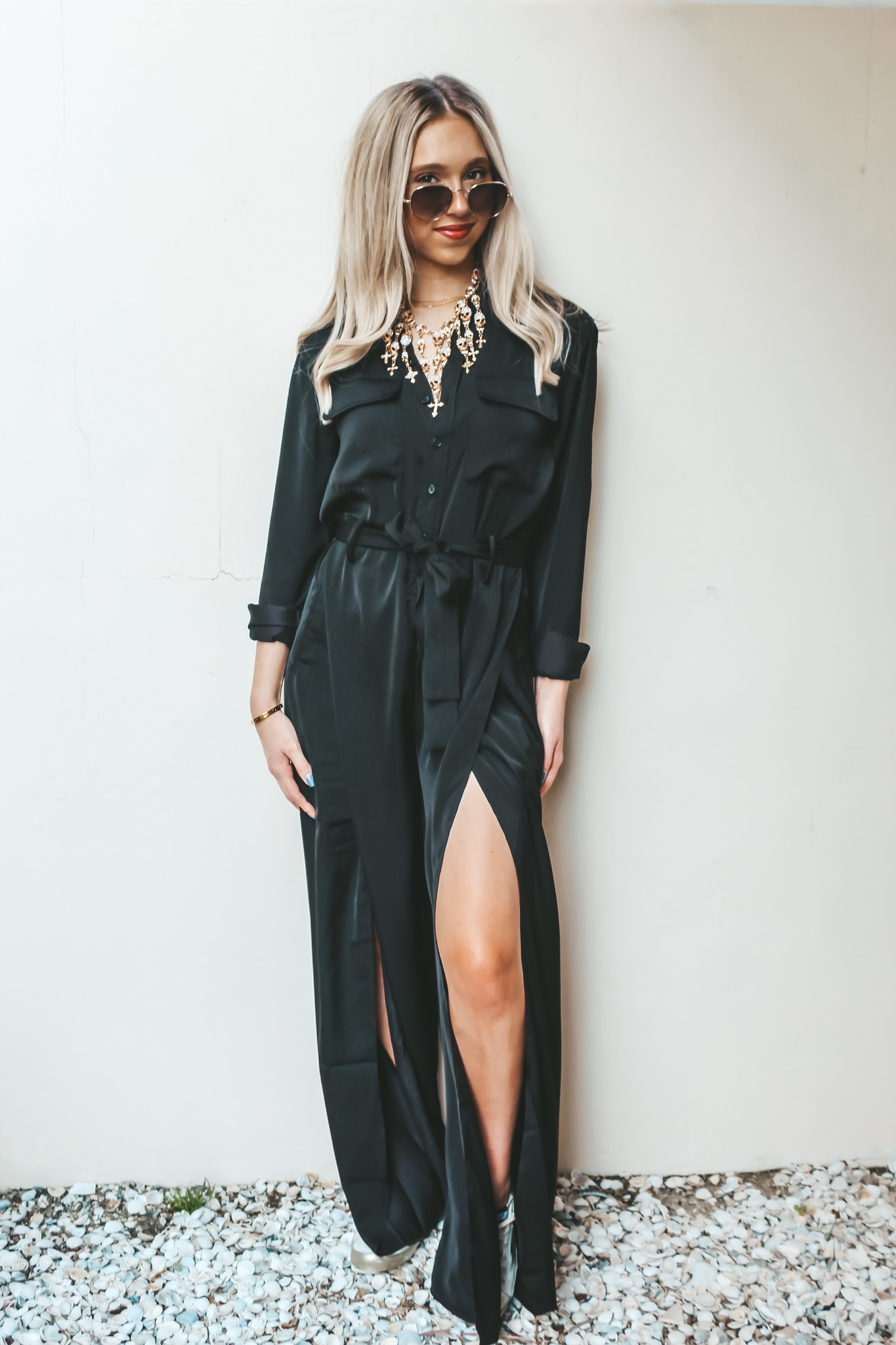 Elan Black Cherry Jumpsuit