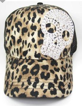 Too Too Hat Rhinestoned Skull Hat