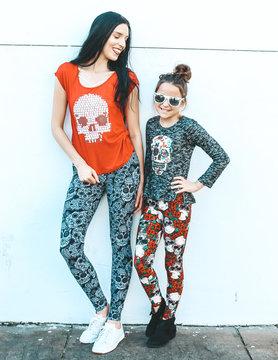 Skull N Rose Kids Leggings