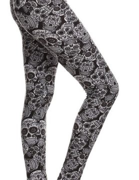 Awesome J AJ Skull Leggings