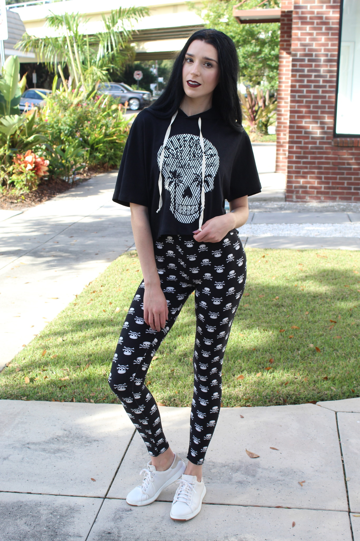 Red Ribbon RR Skull Leggings