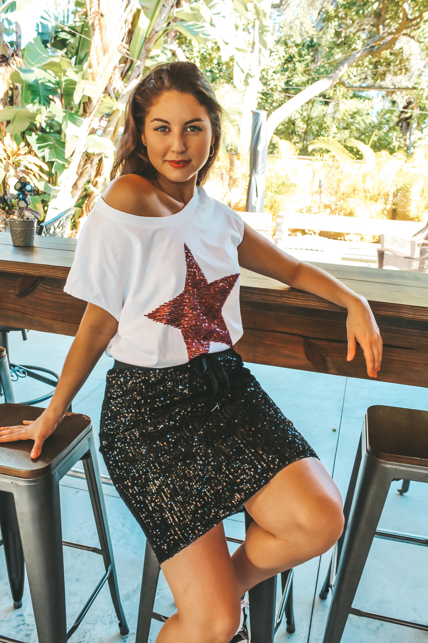 made in italy Red Rock Star Tee