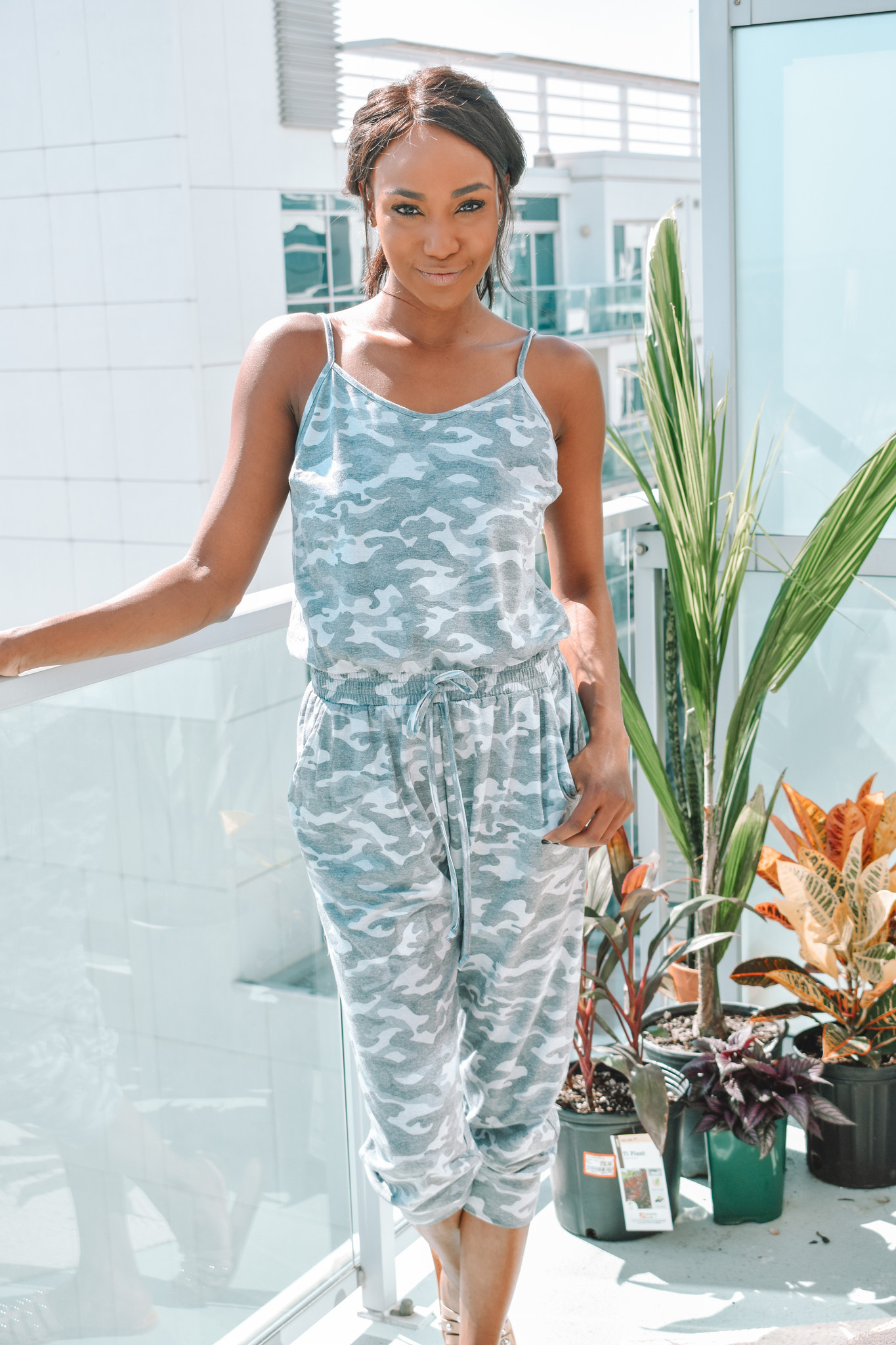 Kaely Camo Jumpsuit