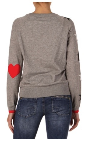 Elan Stars and Hearts Sweater