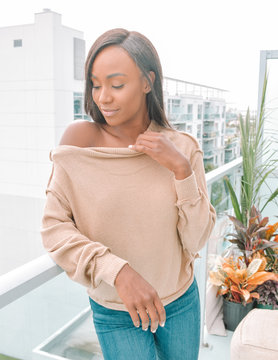 Heather Ribbed Knit Top