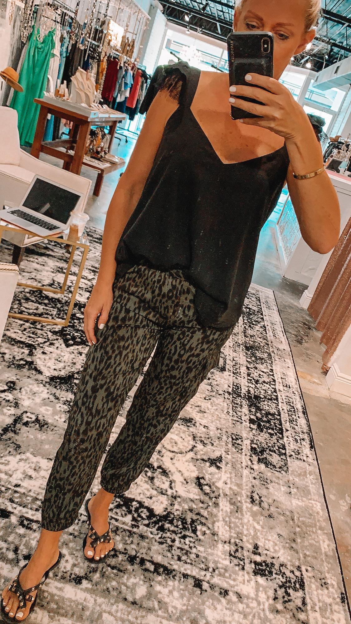 Jade Cheetah Joggers