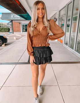 Sienna Silky Layered Skirt