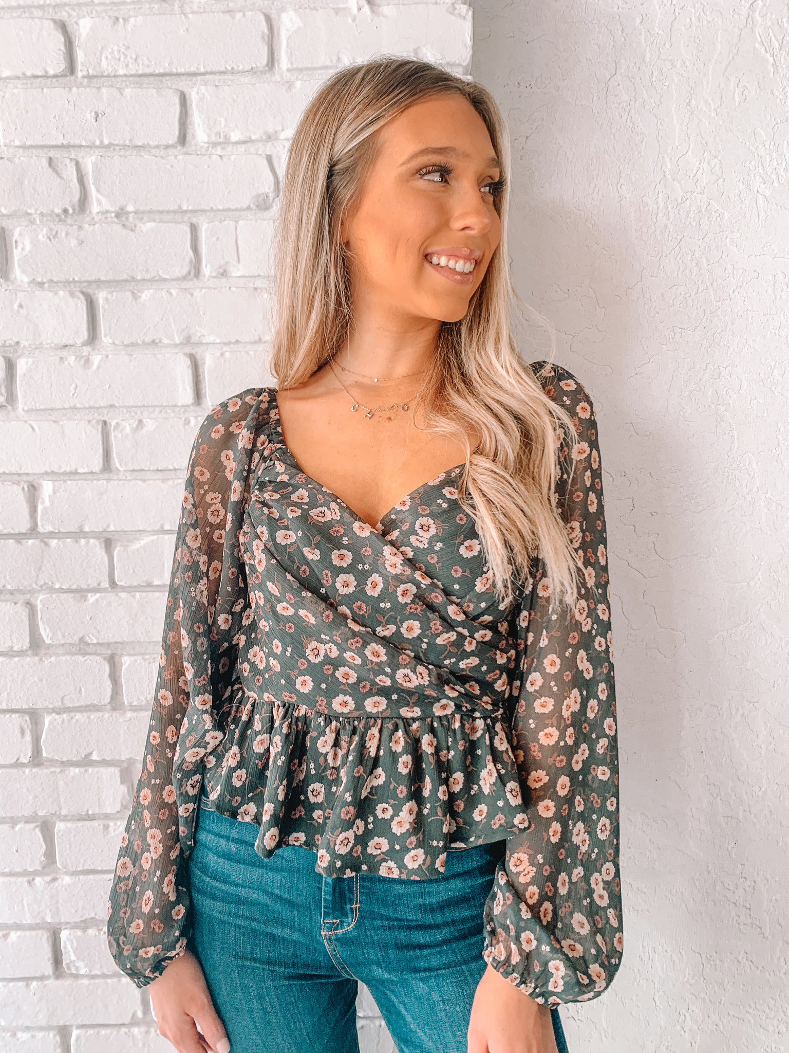 Samantha Floral L/S Top