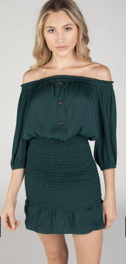 Talia Smocked Skirt Dress