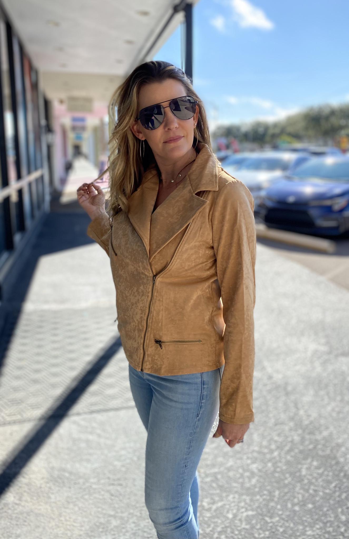Camel Moto Jacket