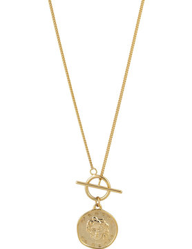 Sahira Medusa Coin Toggle Necklace