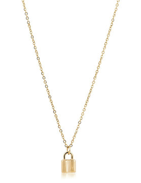 Sahira Mini Lock Necklace