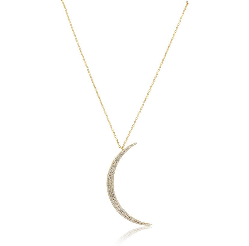 Sahira Pave Moon Crescent