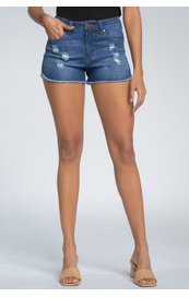 Elan Elan Distressed Denim Shorts