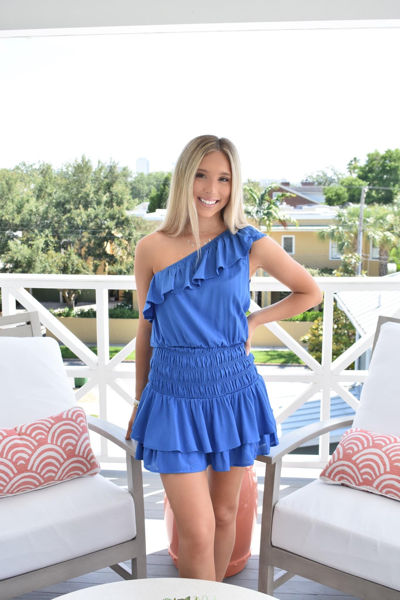 Glam The Gwyn One Shoulder Mini Dress