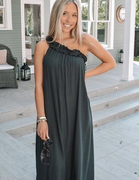 Glam The Kelly One Shoulder Ruffle Dress