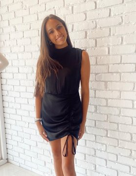 The Jane Mock Neck Mini Dress