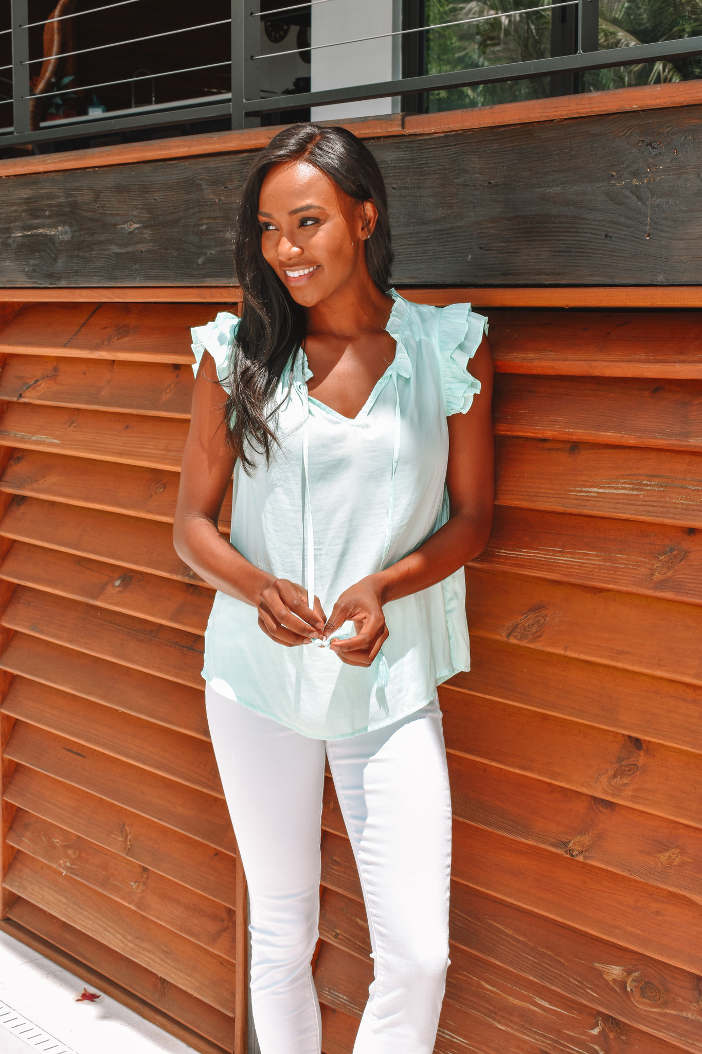 The Bethany  Mint Green Top