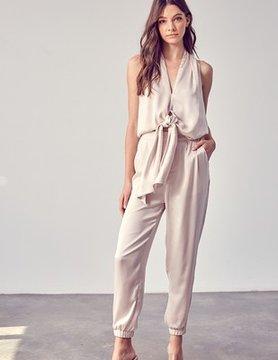 Salena Front Tie Jumpsuit