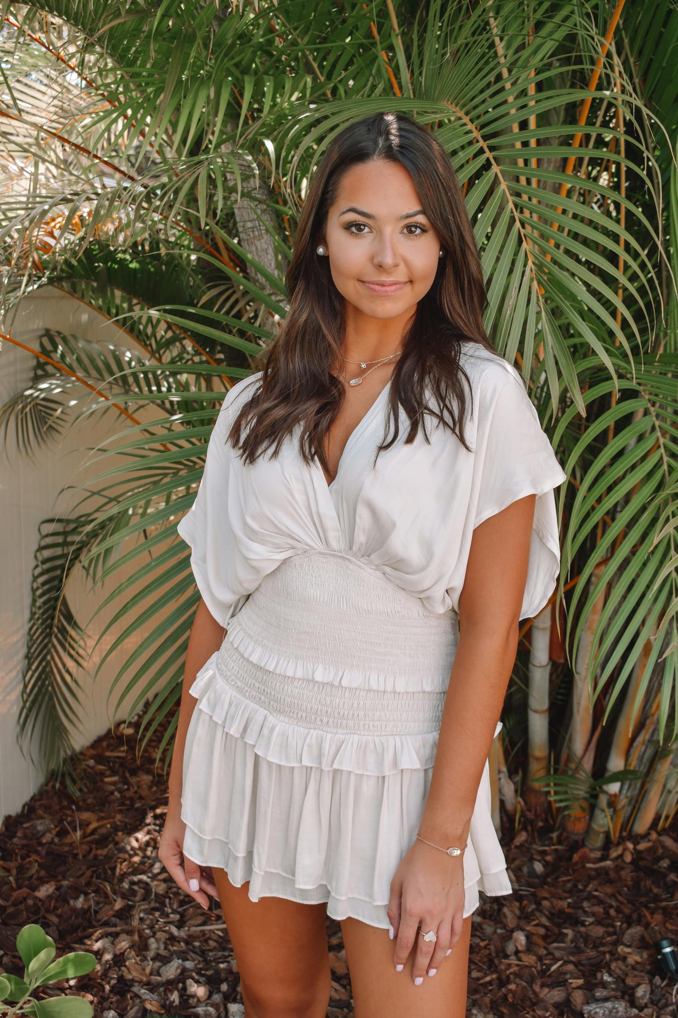 Michaela Smocked Ruffle Skirt