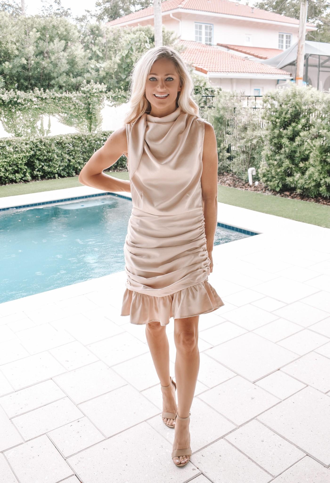 The Chloe Champagne Dress