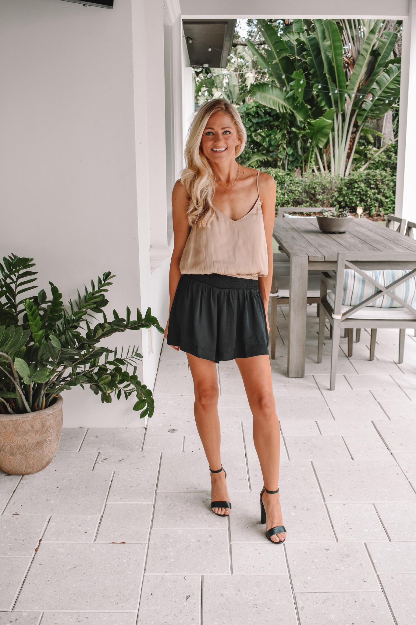 Pretty Follies Black Shorts