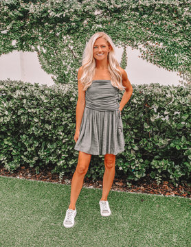 Shelby Ruched Tube Romper